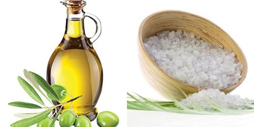 Kết quả hình ảnh cho muối và dầu oliu