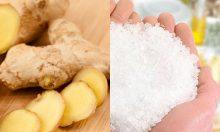 Làm kem tẩy tế bào chết từ gừng và muối